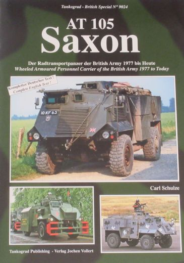 AT 105 Saxon, by Carl Schulze, subtitled 'Wheeled Armoured Personal Carrier of the British Army 1977